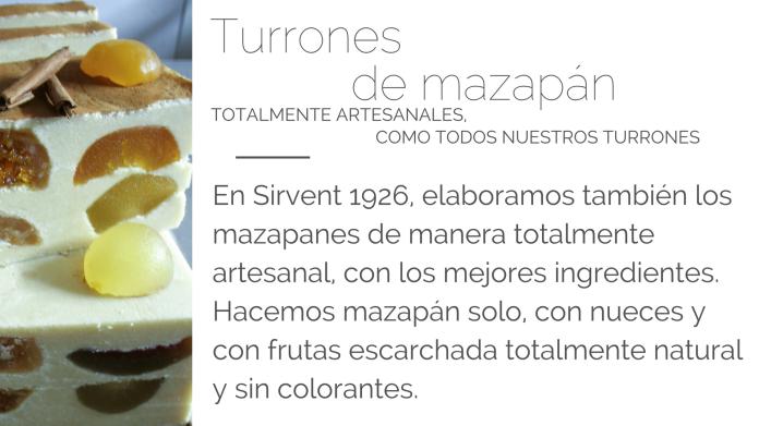 Turrón de mazapán con frutas Sirvent 1926