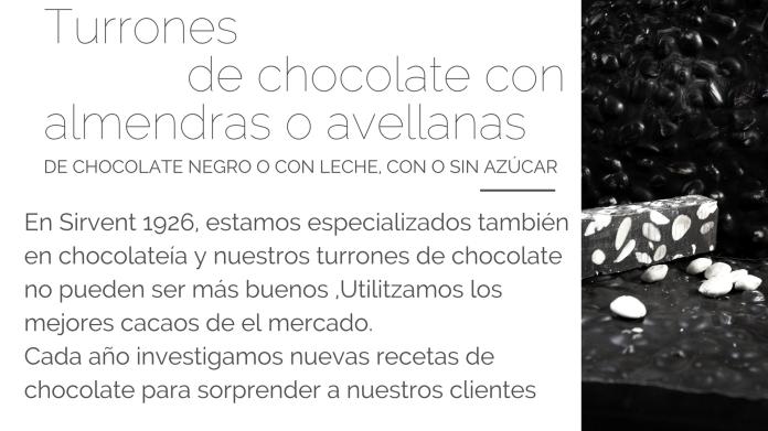 Turrón de chocolate Sirvent 1926